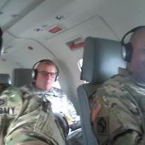 Two CSMs and I en route to a health and wellness check