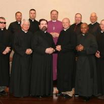 A gathering of chaplains of the Convocation of Anglicans in North America