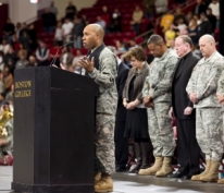 The Official send off for the deployment to Afghanistan hosted by Boston College