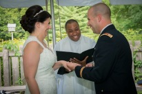 Officiating the wedding of CPT and Mrs. F!