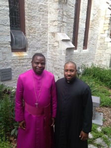 With Bishop of Northern Malawi the Rt. Rev'd Fanuel Emmanuel Magangani. Always provided me with pastoral love and care!