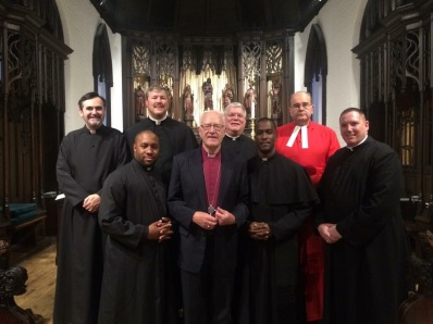 Nashotah House with the 103rd Archbishop of Canterbury Lord George Carey and the Chaplain to HM the Queen, Canon Jeremy Haselock.