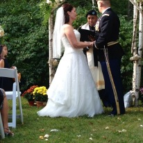 A couple of years later, I'm presiding over CPT A's wedding to the love of his life!