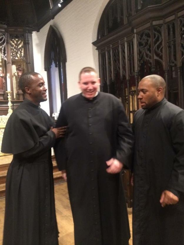 My buddies Fr. K and Fr. J at Nashotah House!