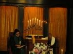 In deep prayer at service