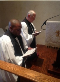 First time co-leading morning prayer as a deacon