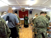 Presiding over the traditional service at Camp Phoenix in Kabul, Afghanistan
