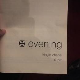 King's Chapel Bulletin